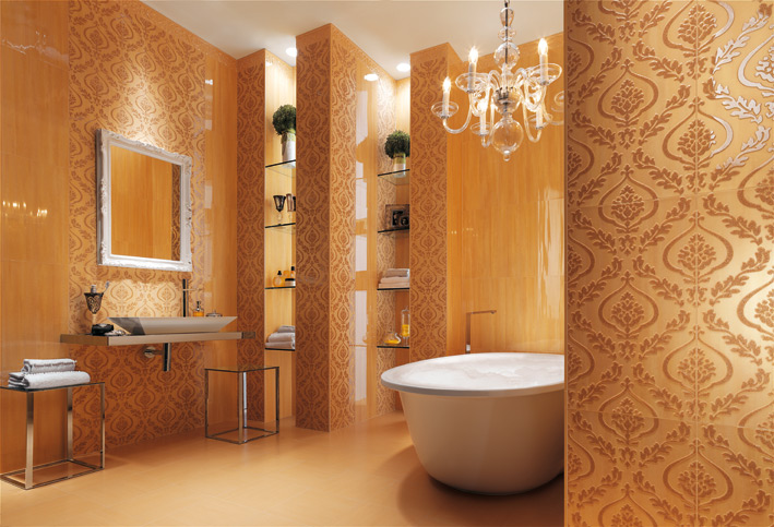 Bathroom Tiles Wallpaper cream wallpaper look bathroom tiles | interior design ideas.