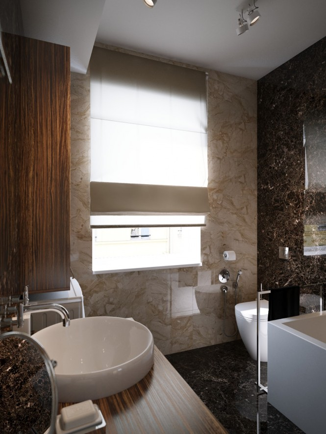 Modern bathroom design scheme