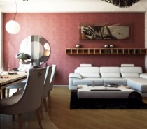 Modern combined living room diner decor