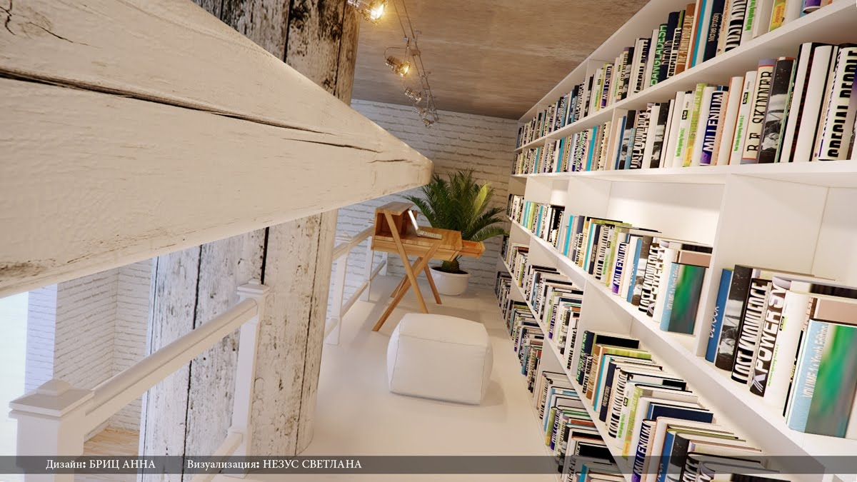 Modern home library study area interior design ideas for Home library designs interior design