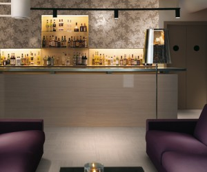 Purple white lounge bar patterned wall tile