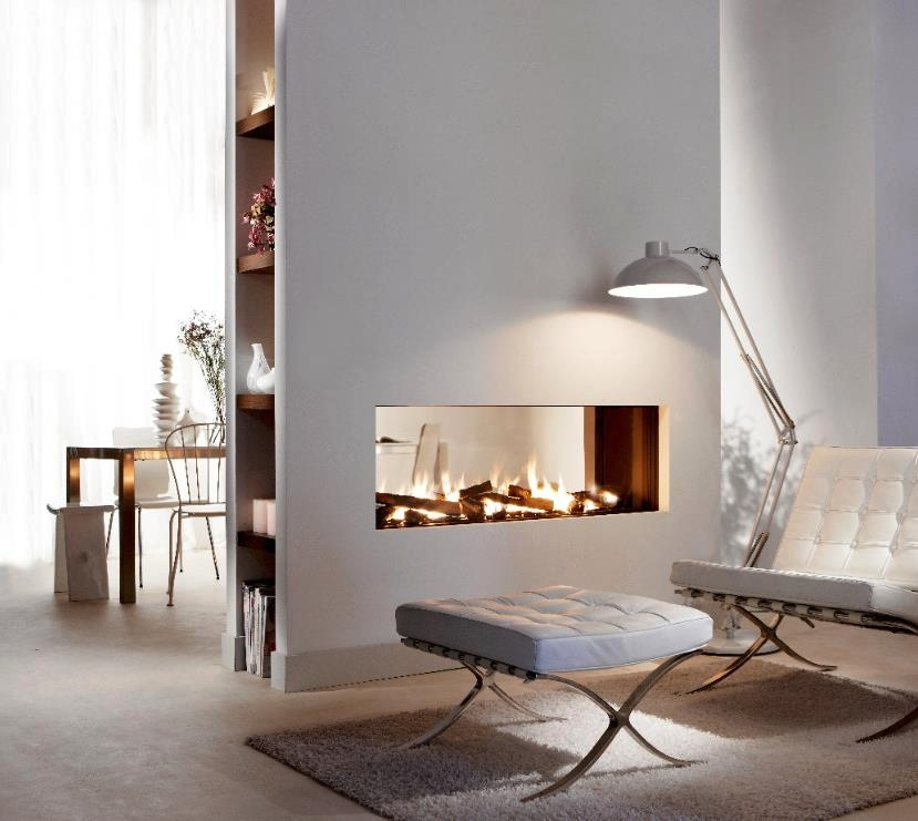 Fabulously minimalist fireplaces - Fireplace between two rooms ...