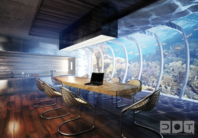 Underwater hotel by the water discus thefrench - Underwater airlock ...