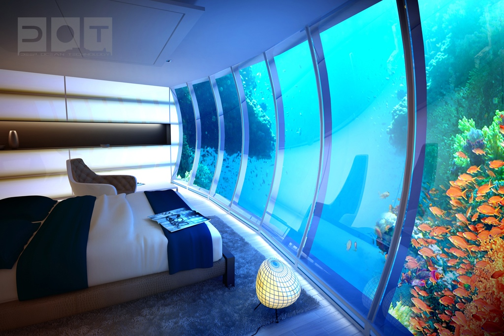 Stunning underwater hotel the water discus for Hotel room in dubai