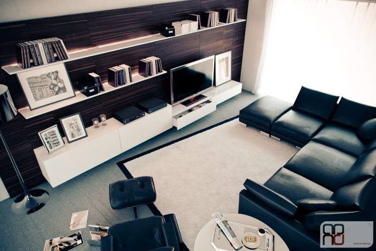 black and white furniture living room