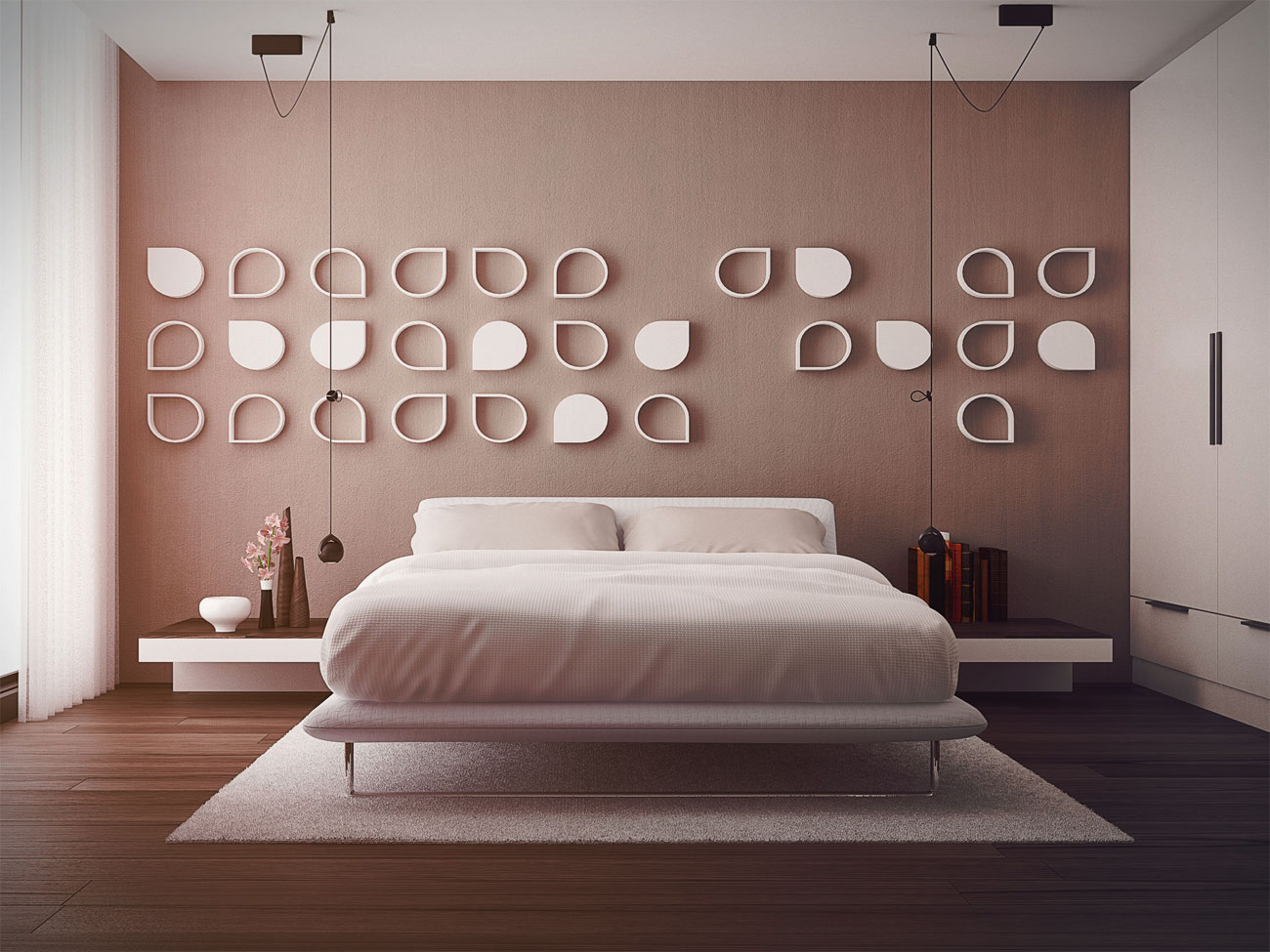 Smart and sassy bedrooms for Bedroom wall designs for couples