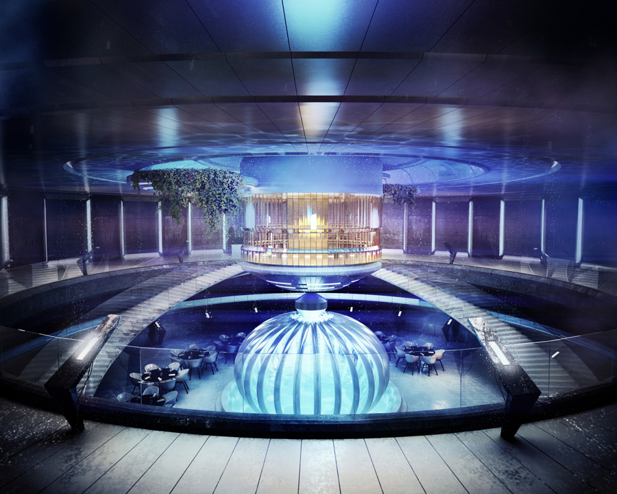 Stunning underwater hotel the water discus for Nicest hotel in the world dubai