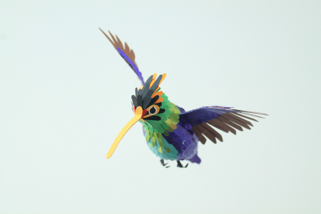 100 Beautiful Bird Sculptures Made Out Of Paper