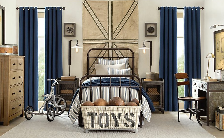blue cream boys bedroom decor interior design ideas