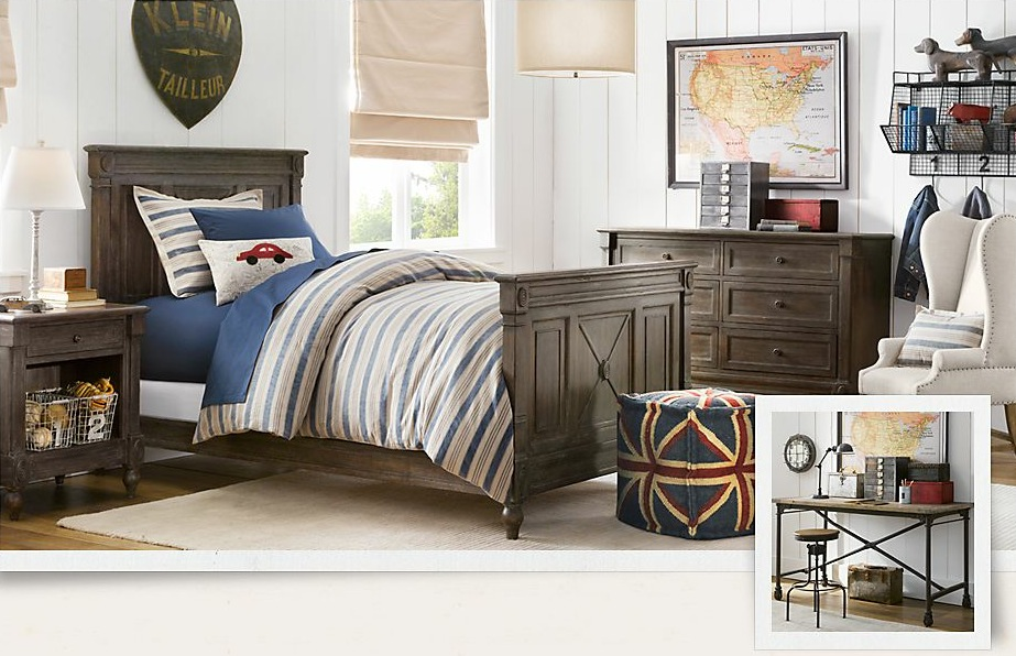 treasure trove of traditional boys room decor