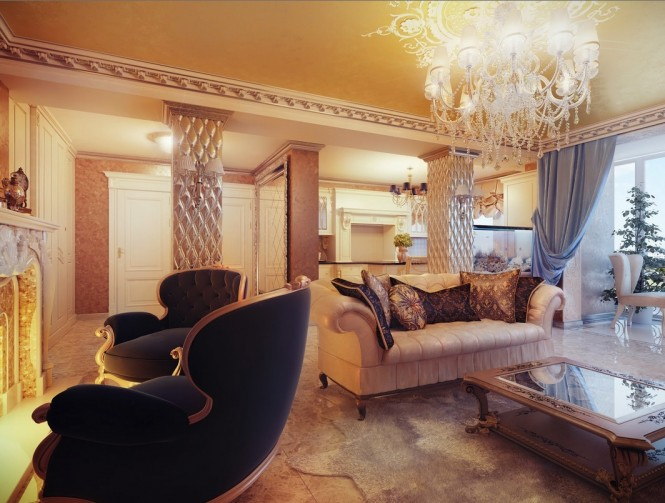 The specially selected furniture is crafted to include detail upon detail, with each piece demanding more adoration than the next, and a huge chandelier provides the crowning glory.