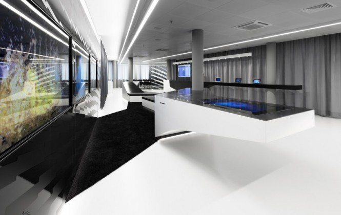 Futuristic office decor scheme