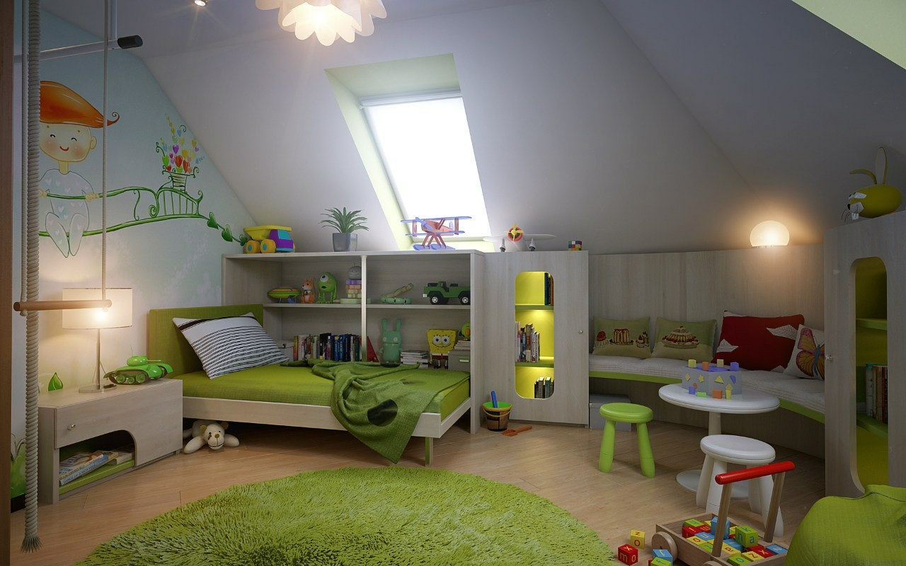 Attic spaces for Attic room