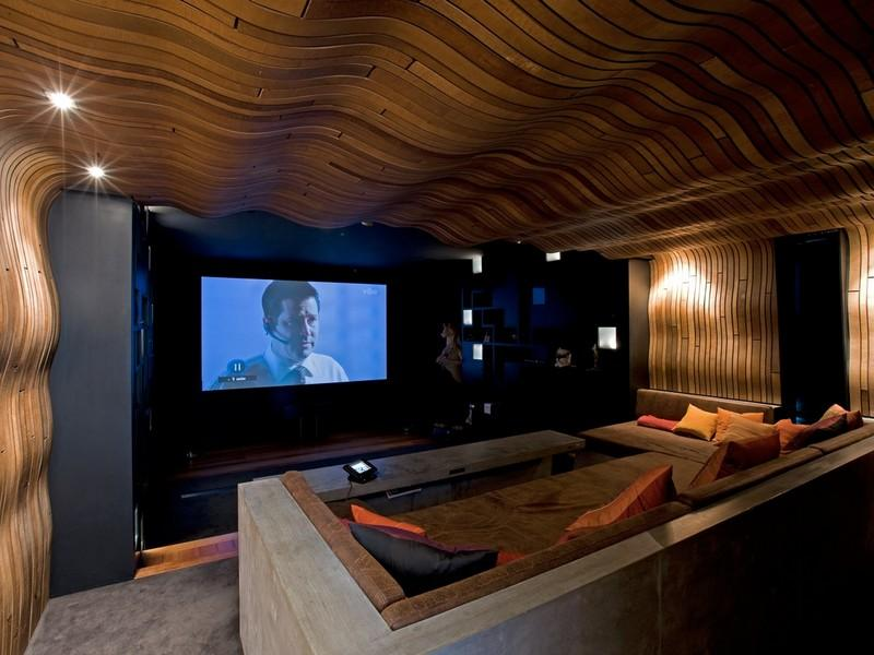 Home theatre entertainment room interior design ideas for House plans with theater room