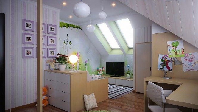Dropped ceilings can often spark more interesting layout ideas; a cozy snug can be formed with low slung television cabinets and dipped seating, and built-in desks can make an ideal study area out of an awkward bulkhead.