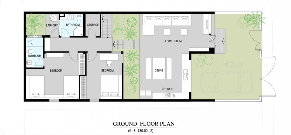 Modern home floor plan | Interior Design Ideas.