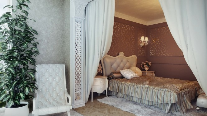 Traditional neutral bedroom scheme
