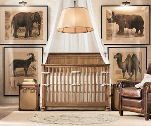 Looking for an animal theme? Consider a traditional safari style; detailed posters are not only more educational but won't date as quickly as a cutesy cartoon mural as your child grows and matures.