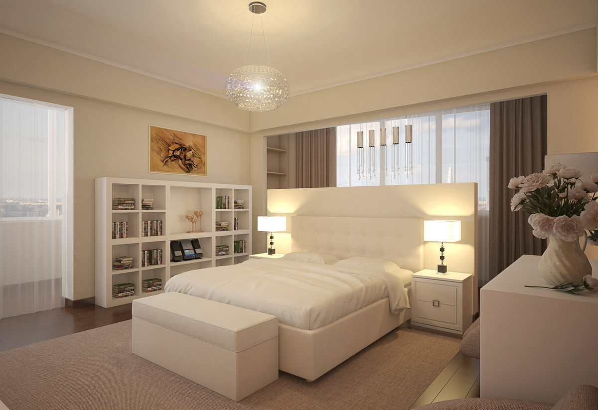 The makings of a modern bedroom for Bedroom layout design