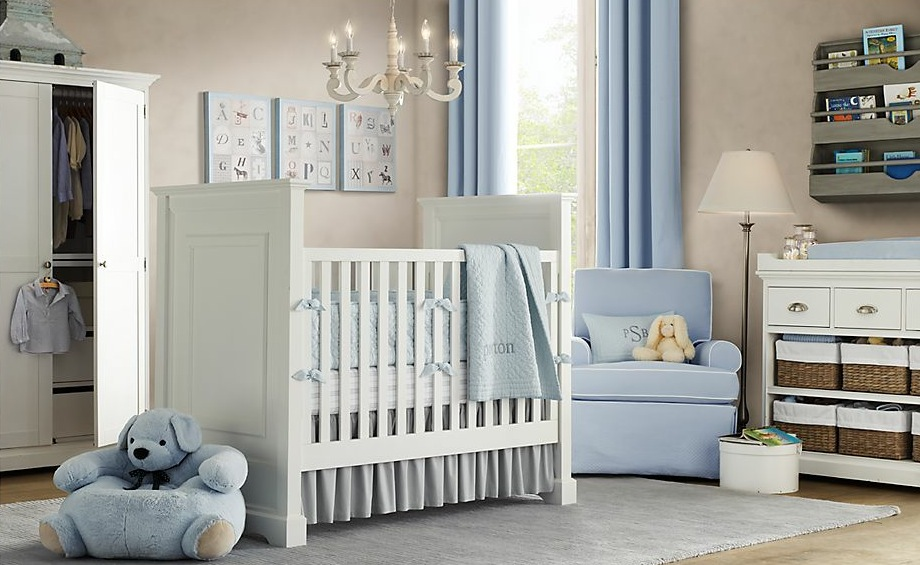 Baby room design ideas for Blue and white boys room