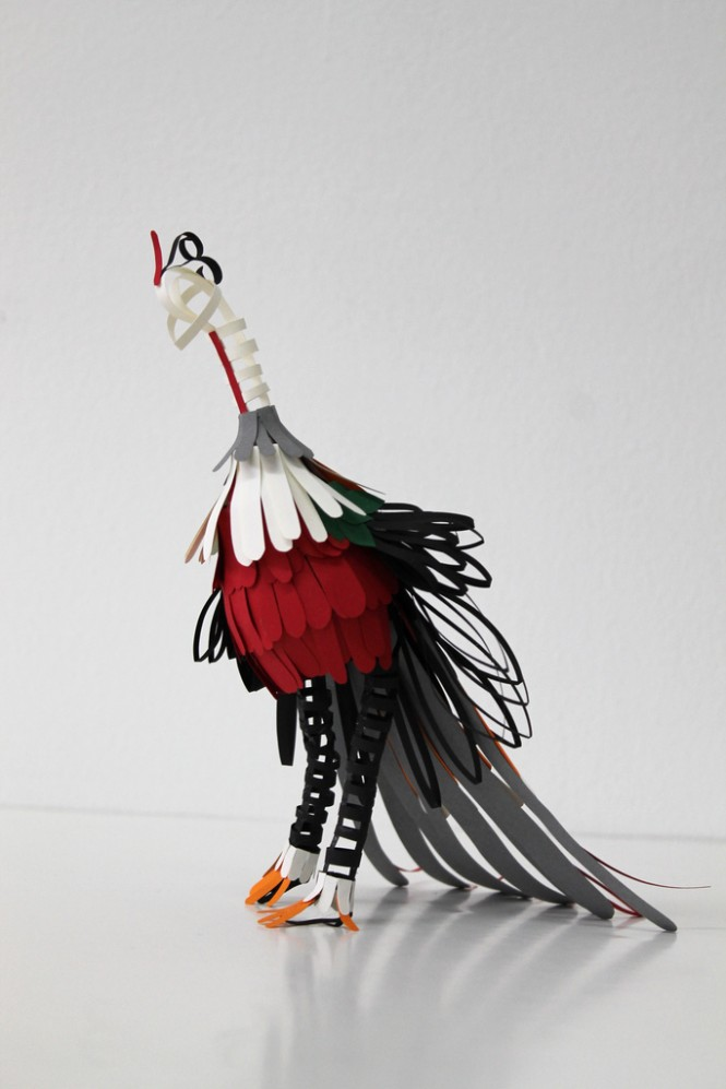 Bird Sculptures 100 beautiful bird sculptures made out of paper