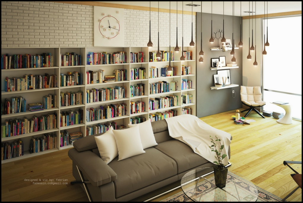 living room library interior design ideas