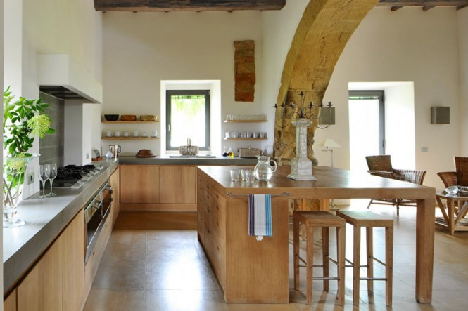 Beech wood kitchen