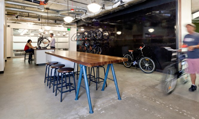 A bike workshop with bicycles to rent for a ride out on the surrounding trails, and a coffeehouse complete with caffeine loaded espresso machines, ensures Building 4 is the bustling hub of the campus.