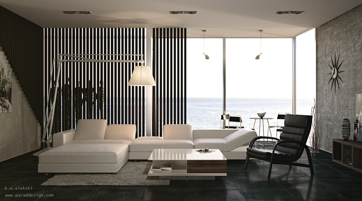 Living rooms with great views for Black in interior design