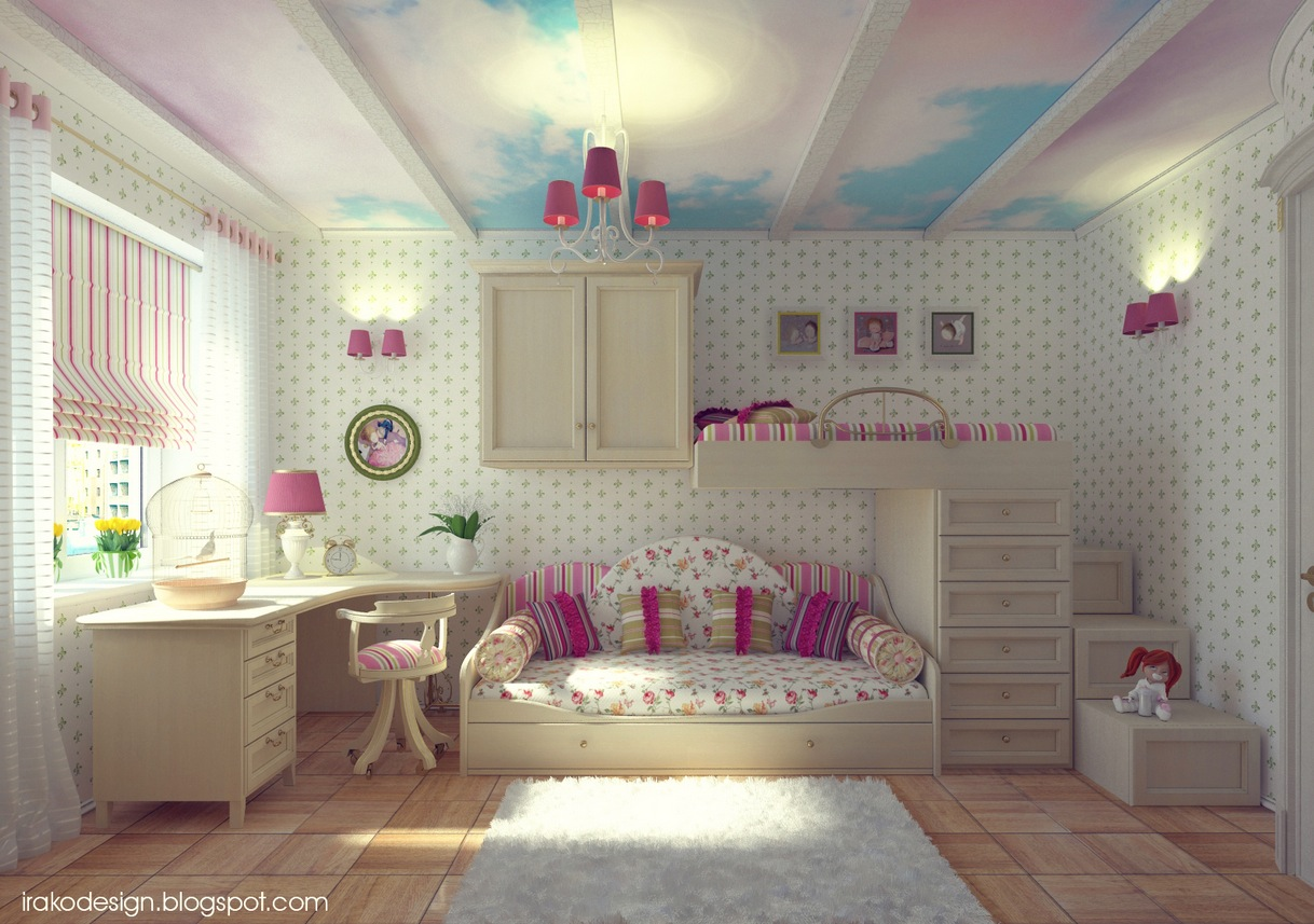 exceptional Cute Girl Bedroom Designs Part - 10: Interior Design Ideas