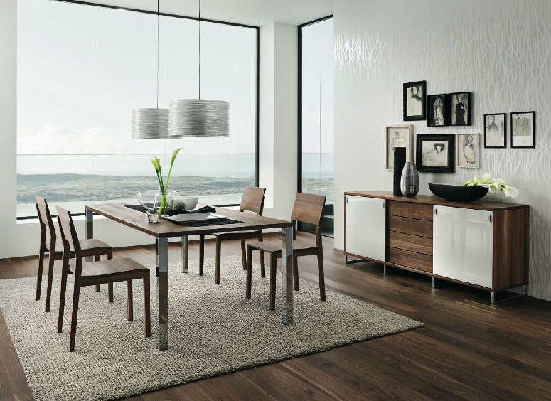 Wooden Furniture in a Contemporary Setting. Wooden furniture in a Contemporary Setting