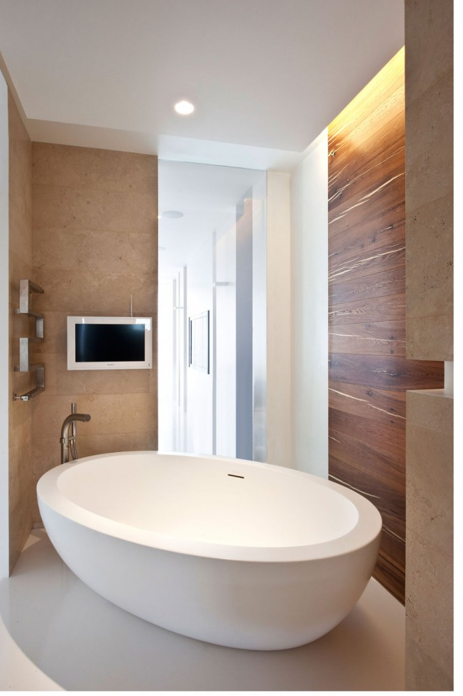 Freestanding modern bath tub interior design ideas Bathroom design ideas with freestanding tub