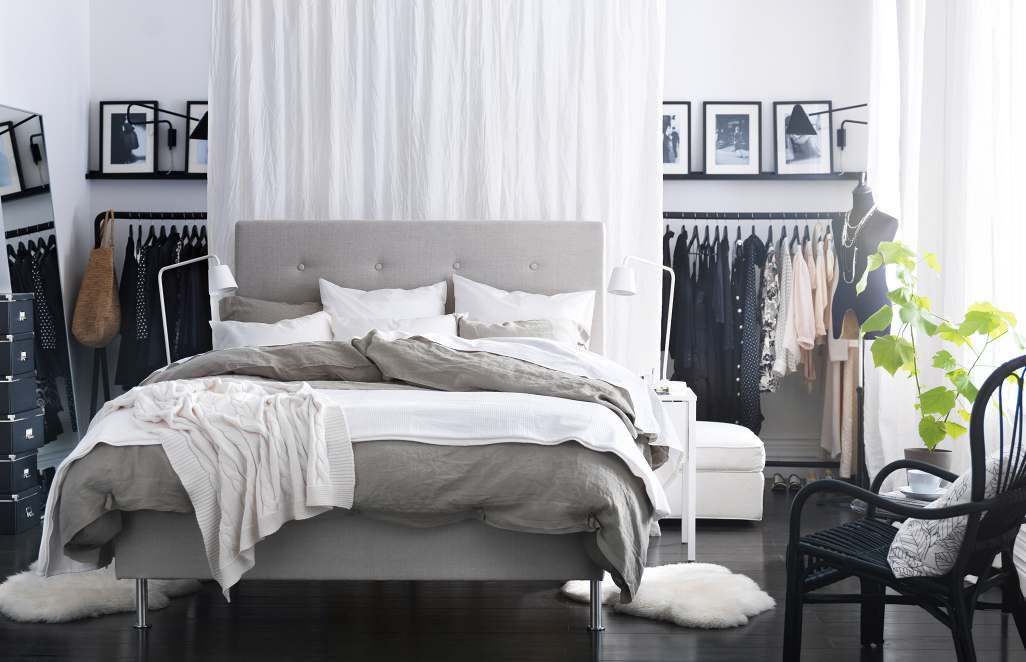 Grey white bedroom interior design ideas for Interior design bedroom grey