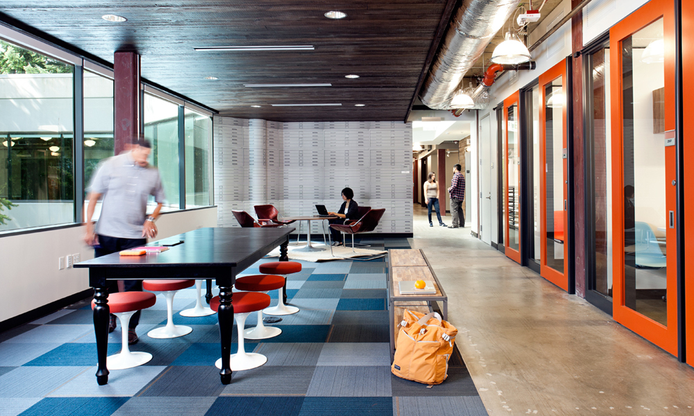 Interiors of microsoft 39 s building 4 in redmond campus - Interior design jobs washington state ...