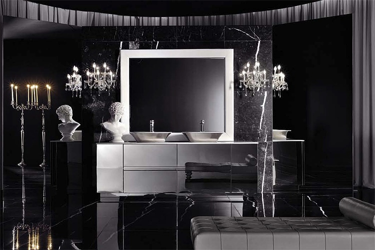 Italian Style Black Bathroom Interior Design Ideas