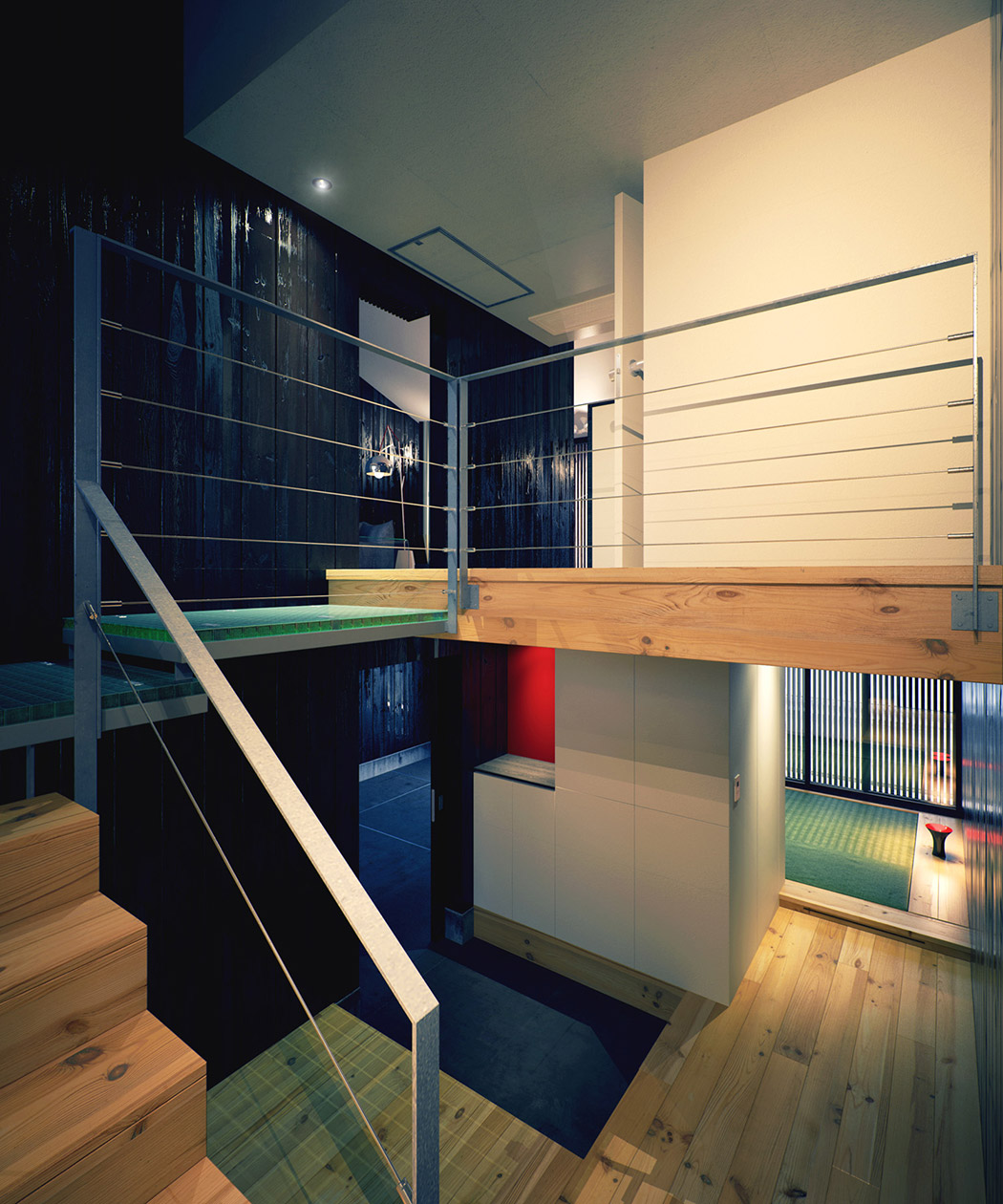 Modern japanese home for Architecture mezzanine