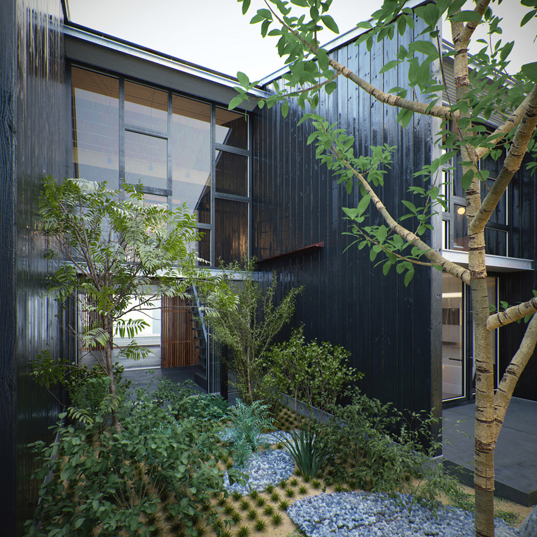 Modern japanese home for Home garden design