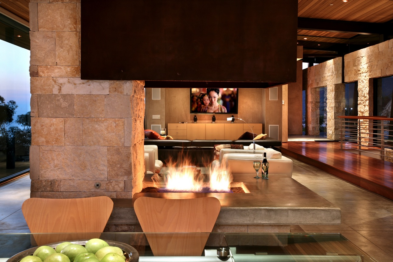 Extravagant fireplace steals the show stone fireplace for the spacious - Bespoke