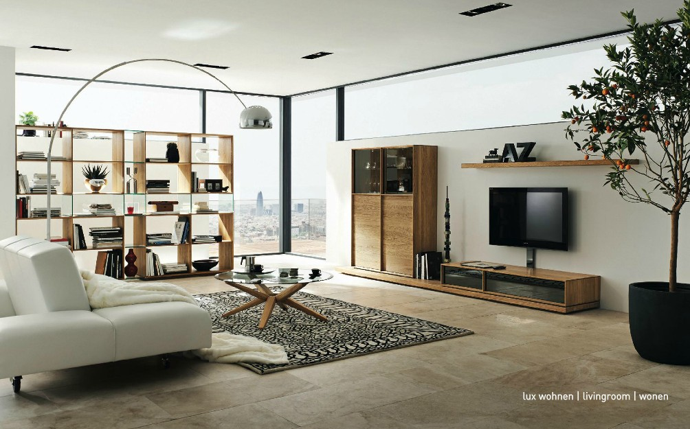 wooden furniture in a contemporary setting. Black Bedroom Furniture Sets. Home Design Ideas