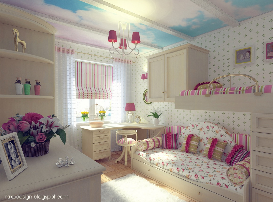Cute girls 39 rooms for Girls bedroom decorating ideas with bunk beds