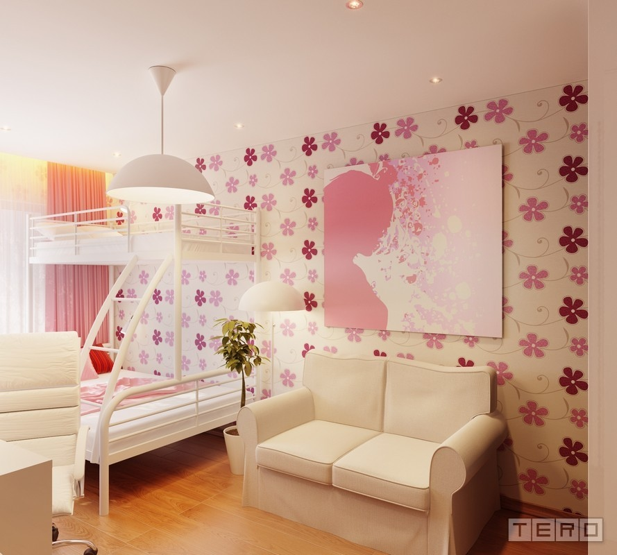 pink white girls room decor - Room Design Ideas For Girl