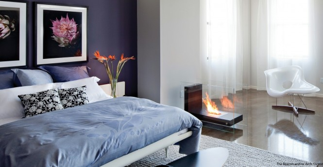 Freestanding fireplaces allow the transformation of lack luster room into an up market romantic hideaway.