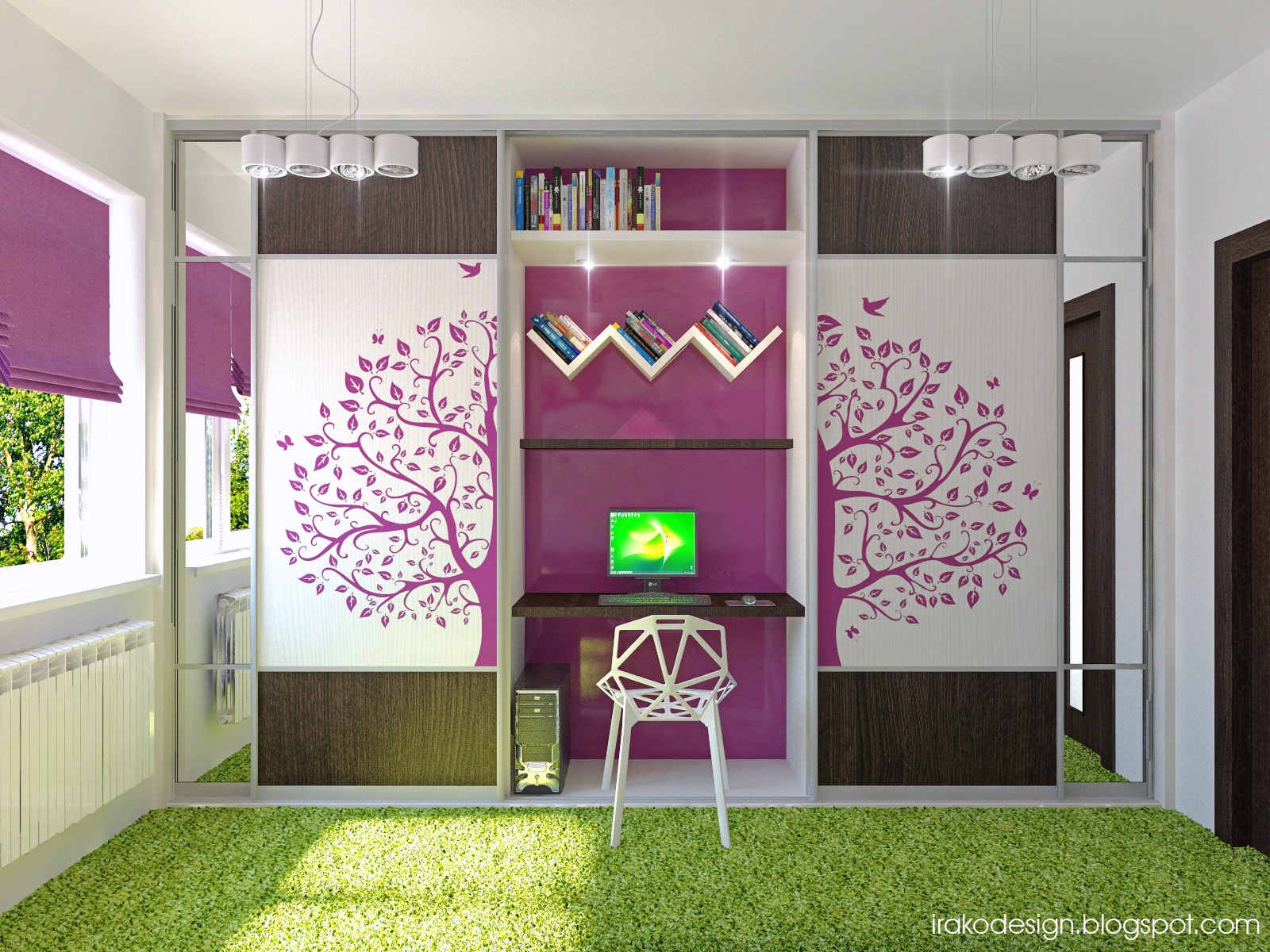Girls Bedroom Green cute girls' rooms