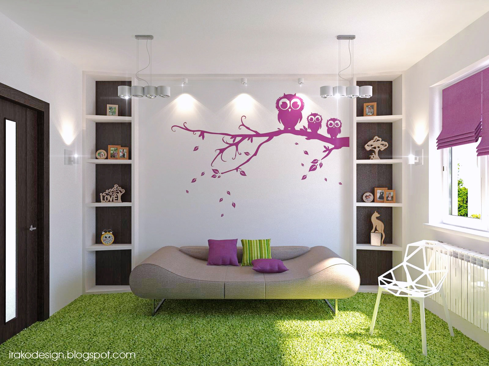 Purple Bedroom Designs For Girls E
