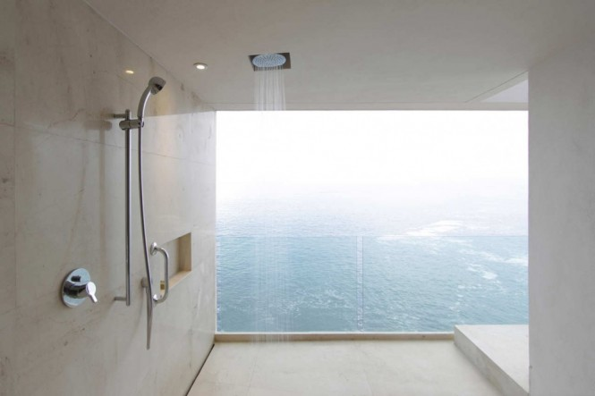 Shower room with a view