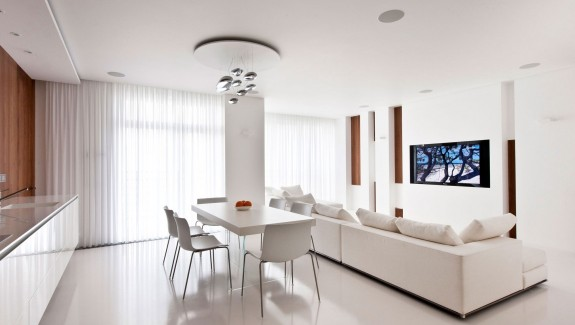 Apartment Awash with Walnut & White