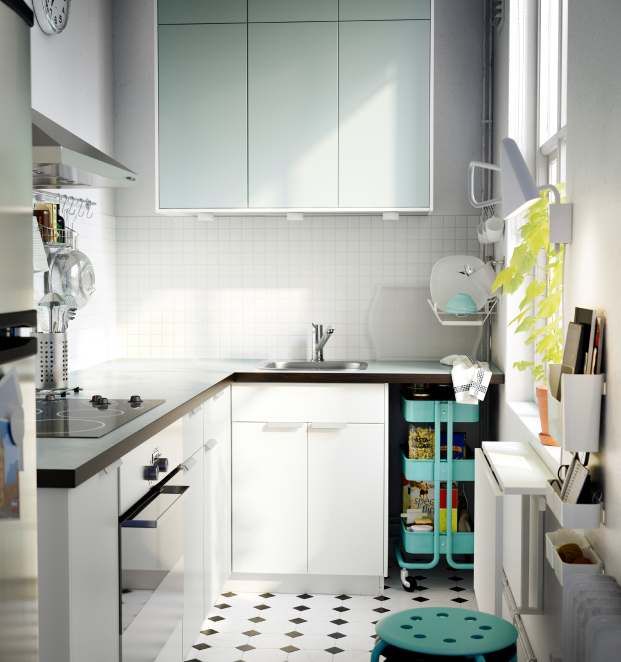white mint ikea kitchen - Ikea Kitchen Design Ideas