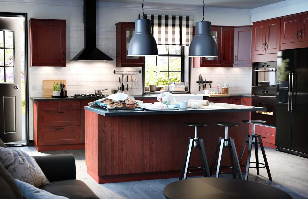 Wood black kitchen units interior design ideas for Kitchen design for units