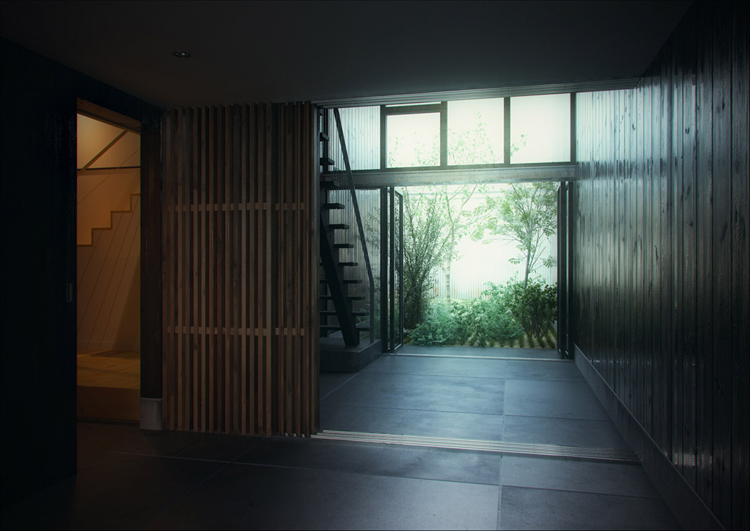 Modern japanese home for Modern entrance hall
