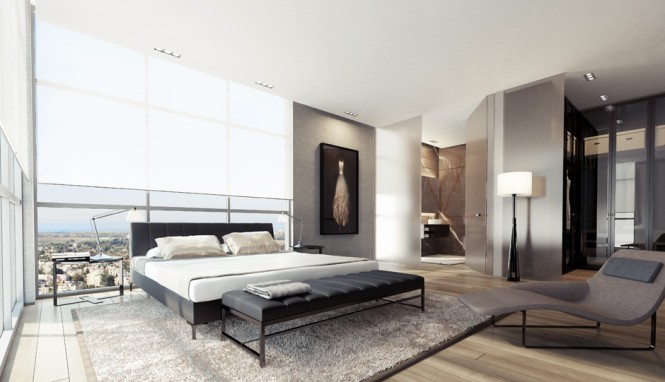 1 Black white gray bedroom decor